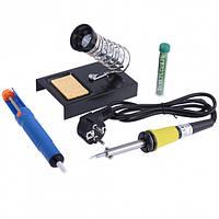 ZD-303 паяльный набор (паяльник, оловотсос, припой, подставка) Zhongdi