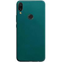 Силиконовый чехол Candy для Huawei P Smart (2019) Зеленый / Forest green
