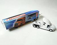 Машинка трейлер метал 1:68 32,5 см белая Kinsmart