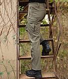 Softshell брюки для туризма и повседневного ношения MilitaryStyle олива, фото 4