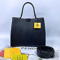 Женская стильная сумка на плечо с широким ремешком Fendi Фенди реплика