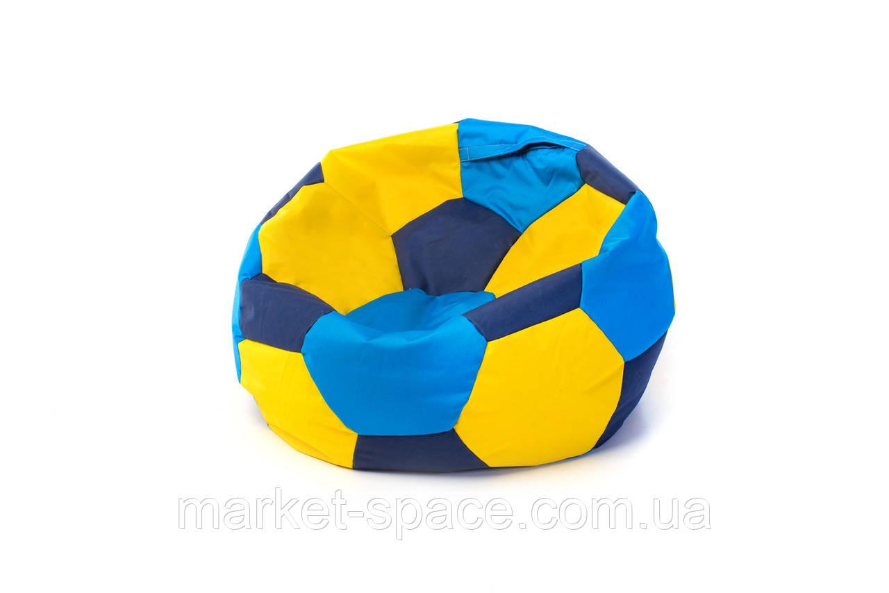 Кресло мяч «BOOM» 60см 3х-цветный (сине-желтый)