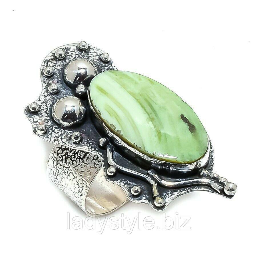 Серебряное кольцо с яшмой империал , размер 18,2