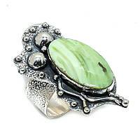 Серебряное кольцо с яшмой империал , размер 18,2, фото 1