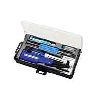ZD-972E паяльный набор, паяльник 4.5V 8W, подставка, припой, отвертка, оловоотсос, Zhongdi