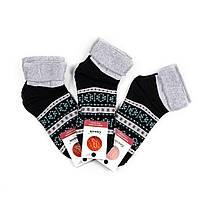 Женские махровые носки без резинки с орнаментом