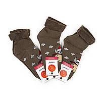 Женские новогодние махровые носки без резинки