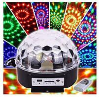 Світлодіодний диско куля світломузика MP3 LED Magic Ball Light М6 з пультом і USB-флешкою