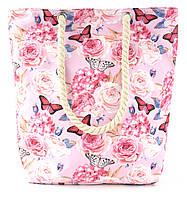 Прочная вместительная женская розовая сумка art.73527, фото 1