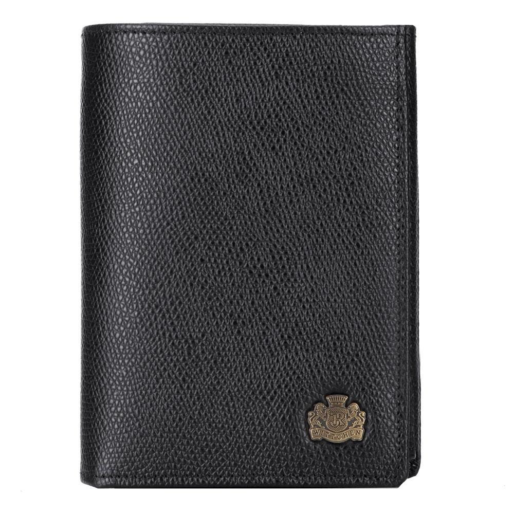 Мужской кожаный кошелек WITTCHEN черный 13-1-265-1R