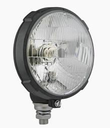Фара головного світла Ø 161 мм Wesem RE.16610 кругла, в корпусі, з габаритом