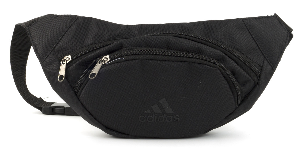 Удобная прочная мужская сумка на пояс art. БАНАНКА 66 черная Украина