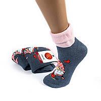 Женские махровые носки без резинки с гномом