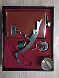 Подарочный набор фляга / лейка / стопка / нож (Кожа), фото 4