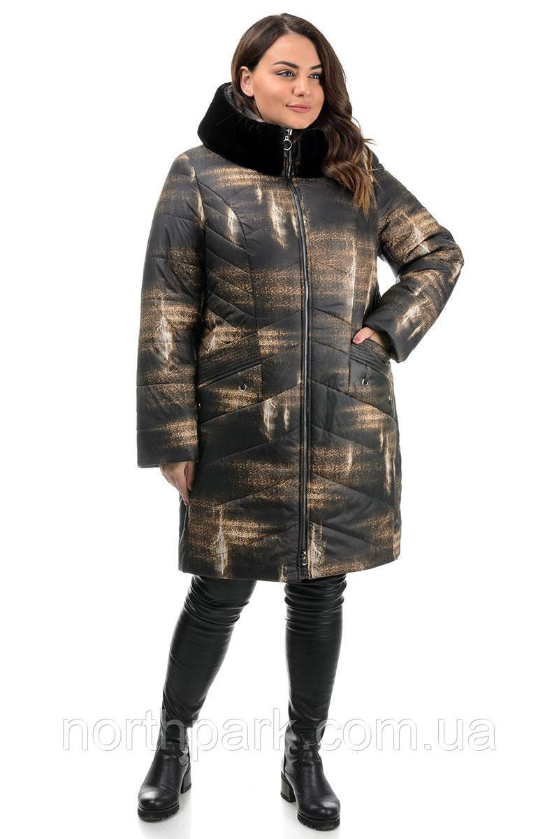 Куртка Valleo 00178 черная, принт 48-58