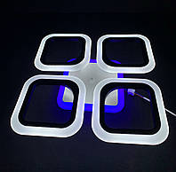 Светодиодная  люстра на 4 квадрата черная 55 ватт, фото 1