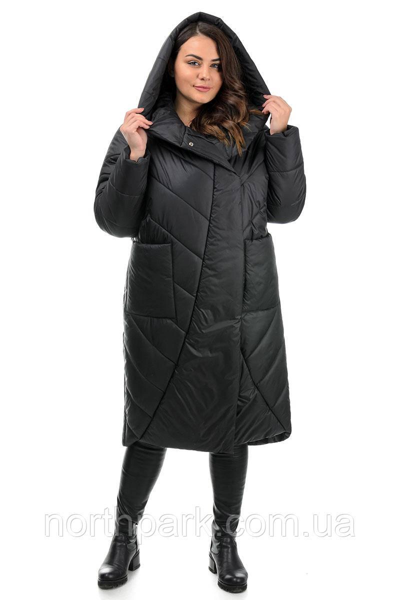 Пальто Valleo 00180 черное 44-48