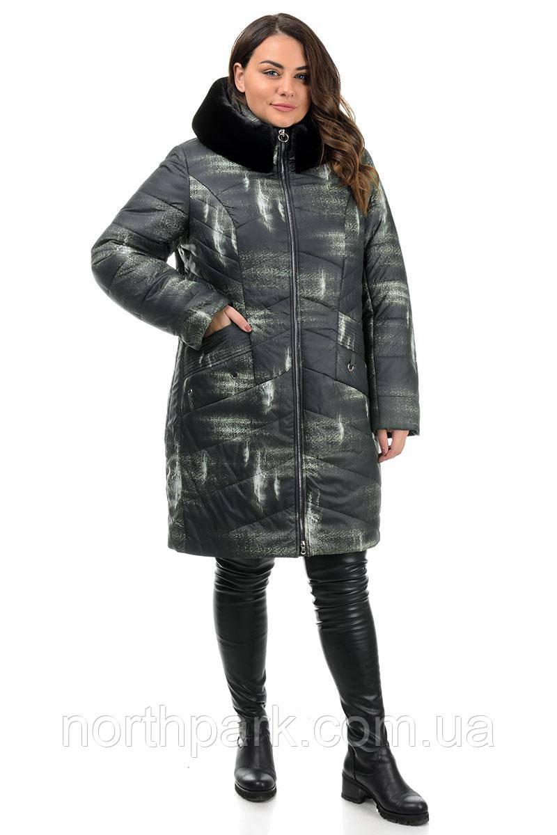 Куртка Valleo 00217 черная, принт 48-58