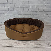 Лежанка для животных, лежак для собак и котов Коричневый