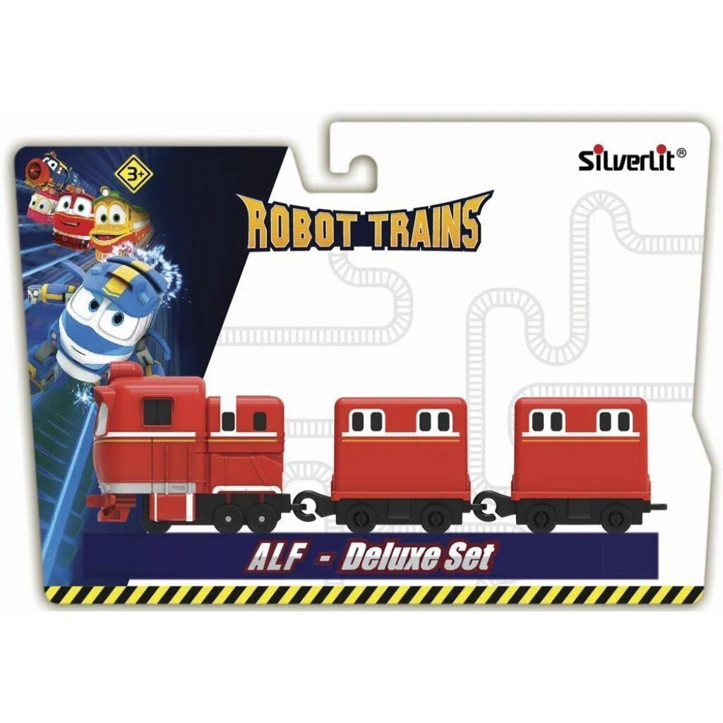 Паровозик Silverlit Robot Trains с двумя вагонами Альф (оригинал)