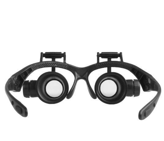 Лупа-очки бинокулярные Magnifier 9892GJ 10x 15x 20x 25x c LED подсветкой (mdr_6535)