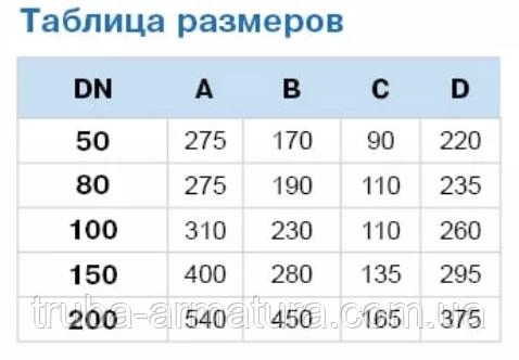 Размеры воздушных вантузов