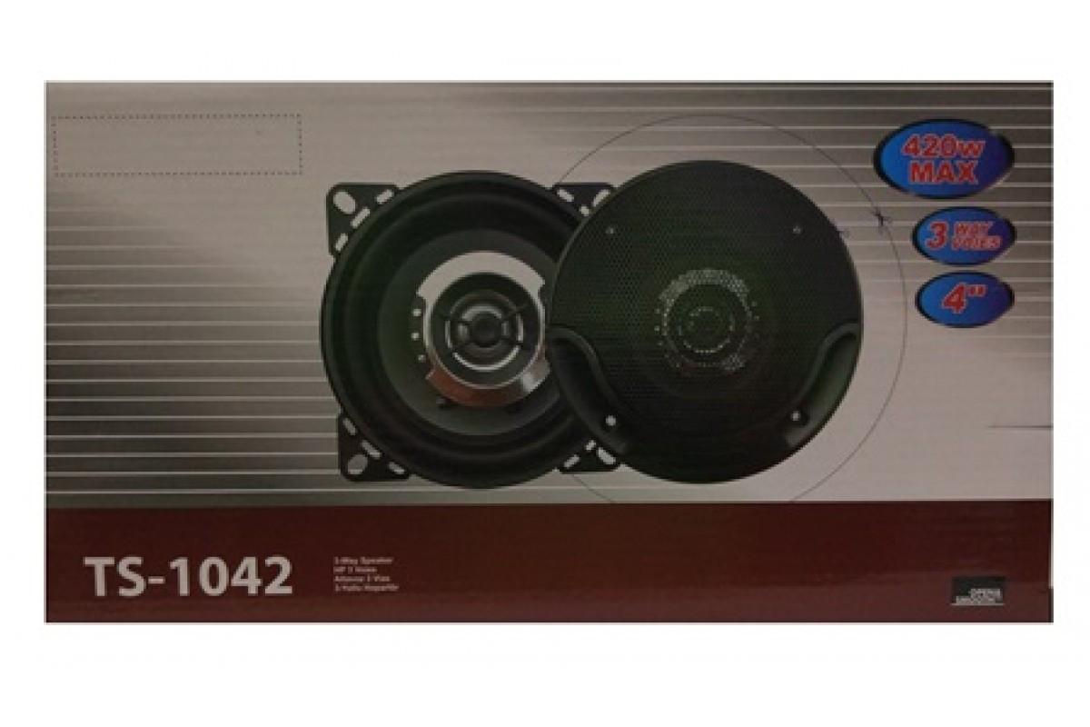 Авто акустика TS-1042 (4\'\', 3-х полос., 420W)