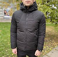 Мужская брендовая короткая куртка в чёрном цвете Armani 42 44 46 48 50 52 54