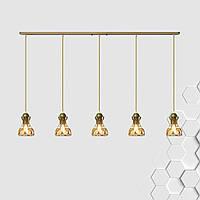 Подвесная люстра на 5-ламп RINGS-5 E27 золото