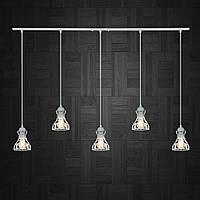 Подвесная люстра на 5-ламп RINGS-5 E27 белый