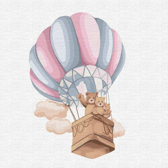 Картина по номерам - Семейный полет Идейка 30*30 см. (КНО2351)