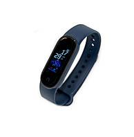 Фитнес браслет Smart Watch M5 с синим ремешком, смарт часы с шагомером | смарт годинник-браслет