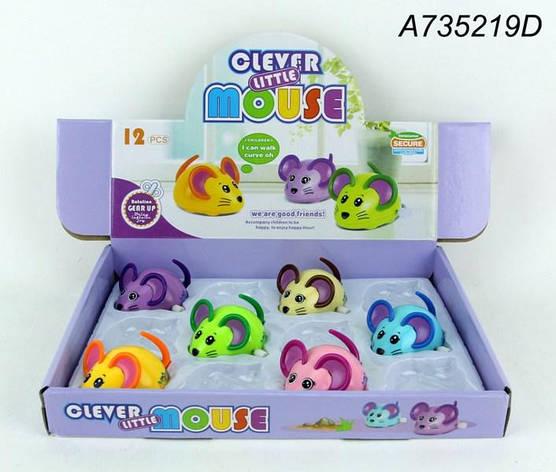 Заводна іграшка 6616 мишка, їздить, рухомі дет., 12шт. (6кольорів) в диспл., 30-22,5-5см, фото 2