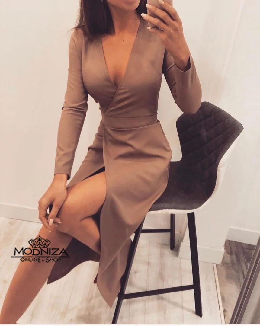 """Элегантное женское платье с запахом """"Ингрид"""""""