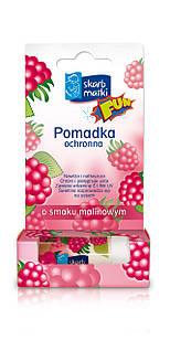 Помада Skarb Matki захисна для дітей зі смаком малини (губи, щоки, ніс)