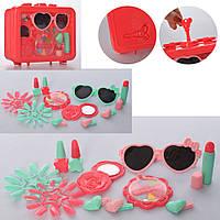Набір аксесуарів HC339E окуляри, дзеркало, косметика, мікс кольорів, валіза, 19-15-6см.