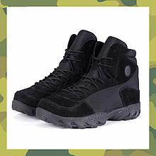 Заниженные ботинки тактические реплика ESDY OUTDOOR черные