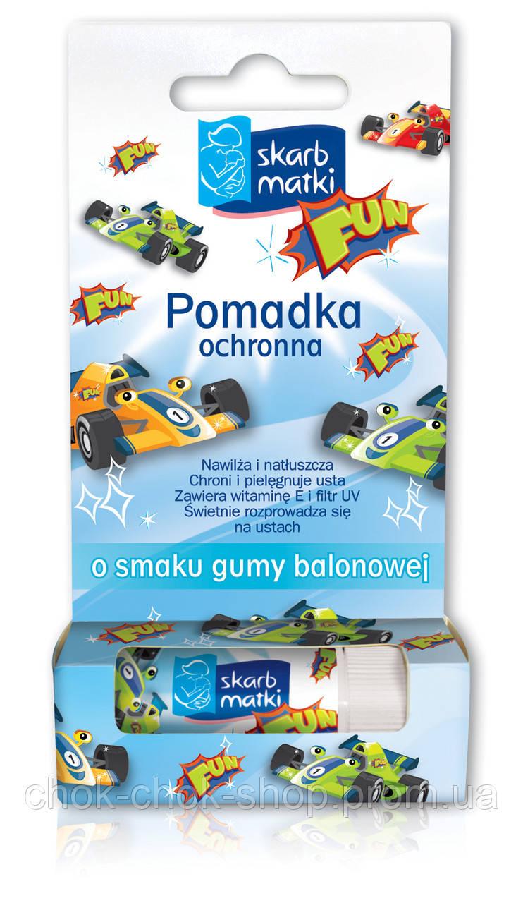Skarb Matki Помада захисна для дітей зі смаком жувальної гумки (губи, щоки, ніс)