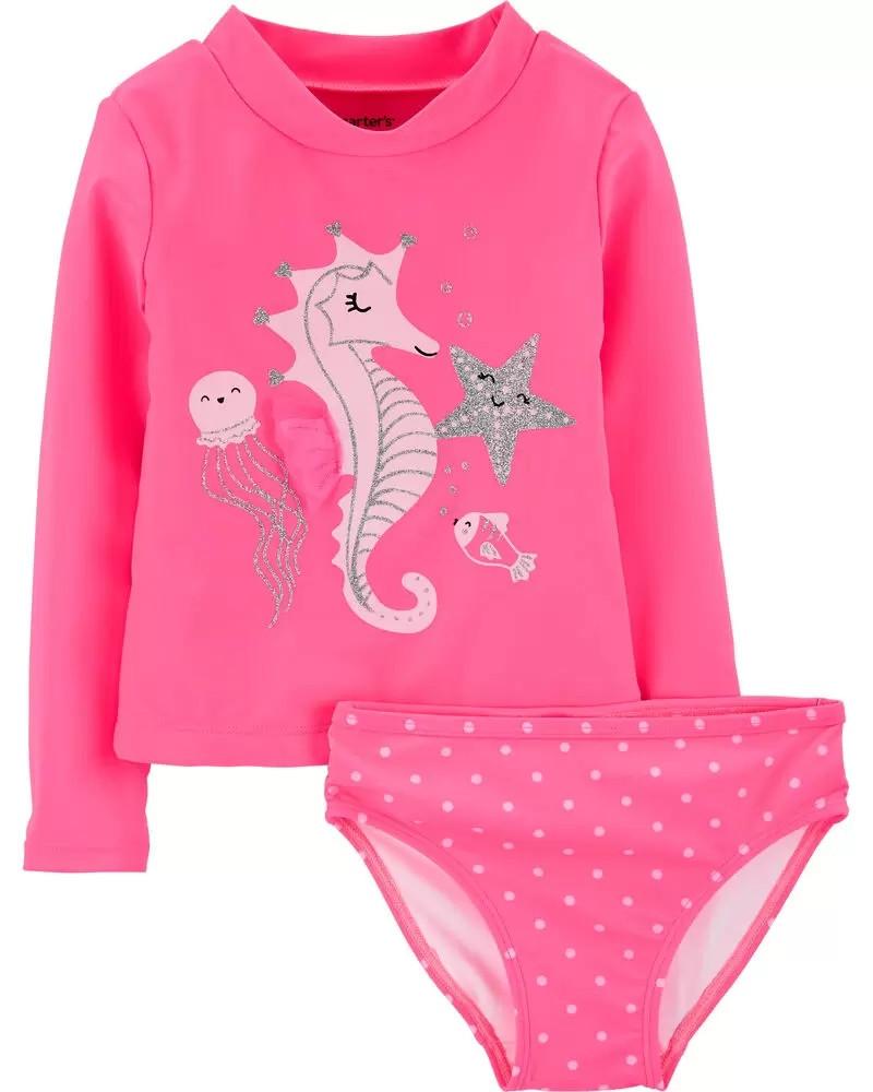Яркий купальный комплект из 2-х вещей на морскую тематику Картерс для девочки