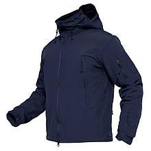 Куртка Softshel Dark Blue с капюшоном/стойкой в темно-синем цвете