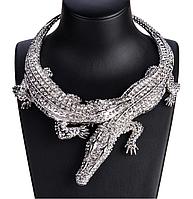 """Колье, ожерелье  """"Серебряный крокодил пара"""" от студии LadyStyle.Biz, фото 1"""