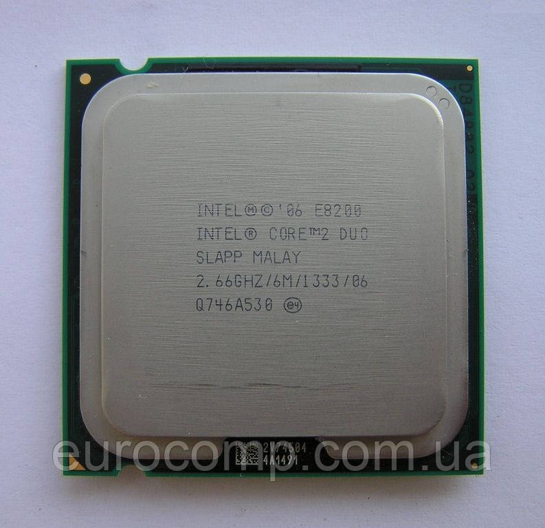 Процессор для компьютера Intel Core 2 Duo E8200, 2 ядра 2.66ГГц, LGA 775