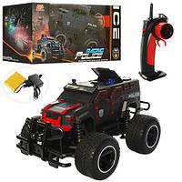 Машина 666-630QMA радіокер. 2.4G, акум., поліція, гум.колеса, аморт., виїзджають фігурки 2 кольори,