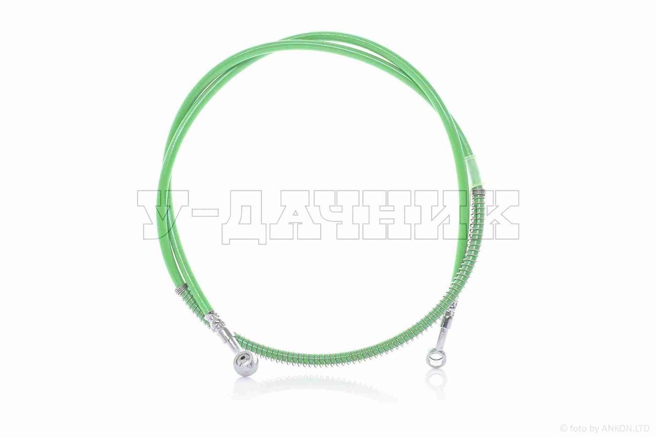 Шланг тормозной гидравлический  армированный, 850mm, зеленый