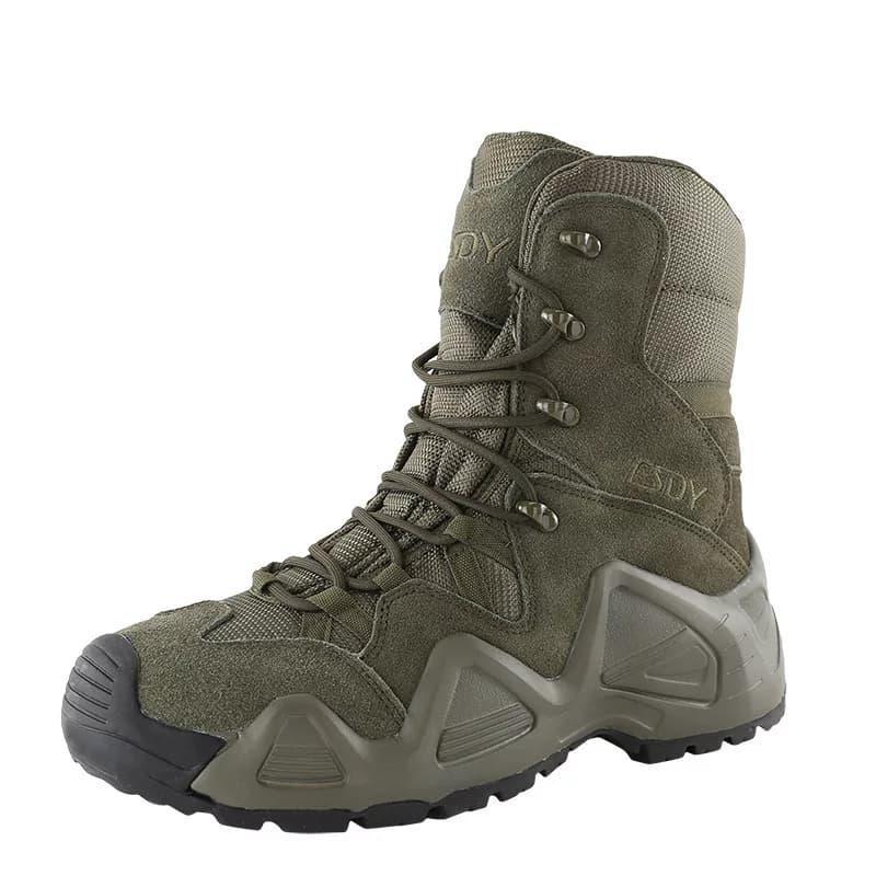 Завышенные ботинки тактические на мембране реплика ESDY Alligator олива