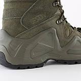 Завышенные ботинки тактические на мембране реплика ESDY Alligator олива, фото 4
