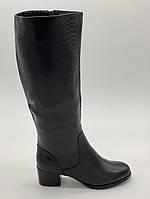 Сапоги демисезонные Mainila черный A-01-1 кожа 41(р)