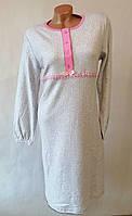 Женская утепленная ночная рубашка. Ночнушка женская длинный рукав, кашемир., фото 1