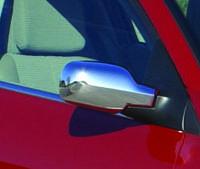 Renault Megane II 2004-2009 гг. Накладки на зеркала Рено Меган 2 (2 шт, пласт) Carmos - турецкий хром. пластик