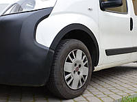 Peugeot Bipper 2008 гг. Накладки на арки (4 шт, черные) 1 дверь, ABS пластик